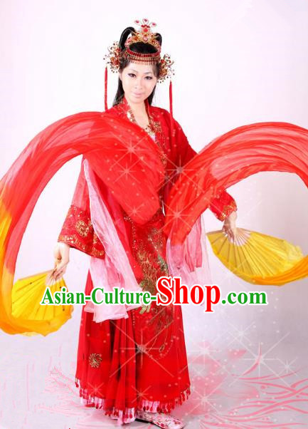 Traditional Chinese Tang Dynasty Imperial Concubine Costume and Headpiece Complete Set, China Ancient Elegant Hanfu Princess Dress Clothing