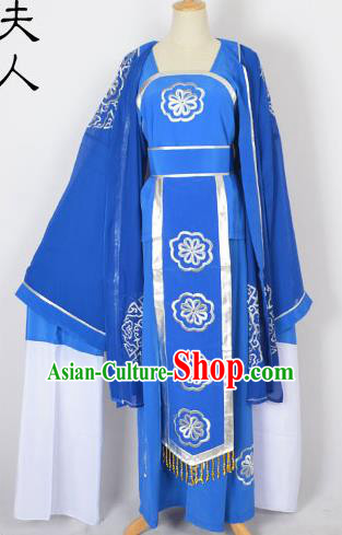 Traditional Chinese Professional Peking Opera Shaoxing Opera Pantaloon Costume, China Beijing Opera Female Clothing Long Robe Dress
