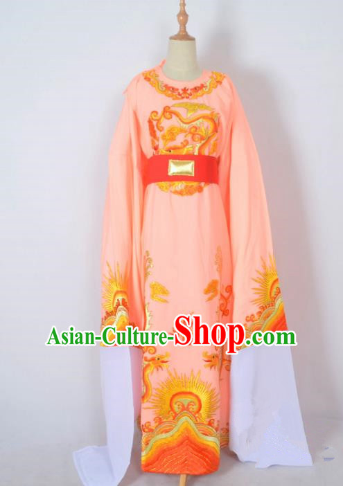Traditional Chinese Professional Peking Opera Young Men Costume, China Beijing Opera Shaoxing Opera Niche Prince Embroidery Long Robe Clothing