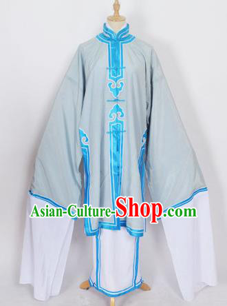 Traditional Chinese Professional Peking Opera Old Women Costume Grey Long Robe, China Beijing Opera Pantaloon Embroidered Clothing