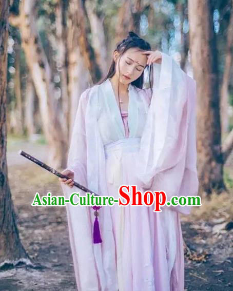 Traditional Ancient Chinese Young Lady Fairy Costume Cardigan and Skirt, Elegant Hanfu Clothing Chinese Tang Dynasty Palace Princess Embroidered Dress for Women