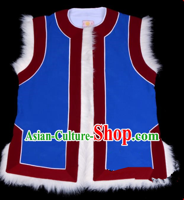 Top Grade Professional Beijing Opera Old Men Costume Landlord Vest, Traditional Ancient Chinese Peking Opera Waistcoat Clothing