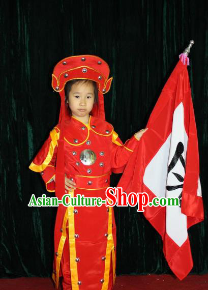 Traditional Beijing Opera Swordplay Embroidered Costume Female General Red Dress, Ancient Chinese Peking Opera Blues Embroidery Clothing