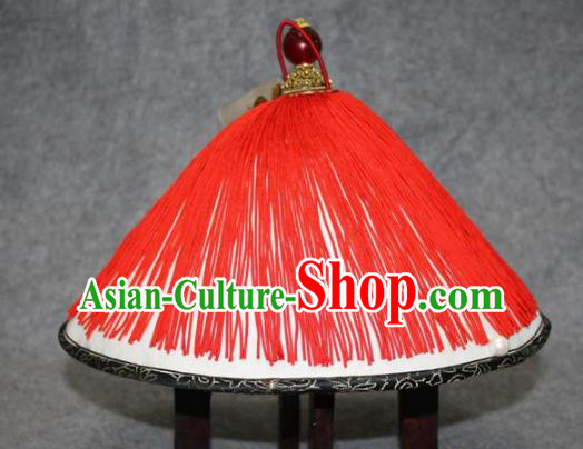Traditional Handmade Chinese Ancient Classical Hair Accessories Peking Opera Eunuch Hat, China Beijing Opera Qing Dynasty Manchu Minister Headwear