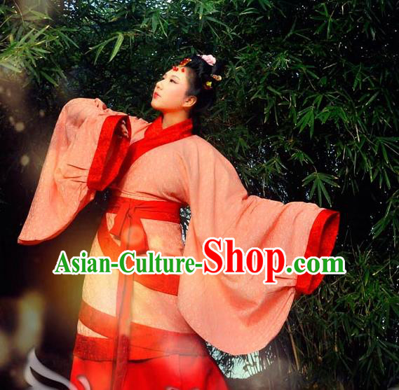Traditional Ancient Chinese Imperial Princess Wedding Costume Curve Bottom, Elegant Hanfu Clothing Chinese Han Dynasty Palace Lady Embroidered Clothing for Women