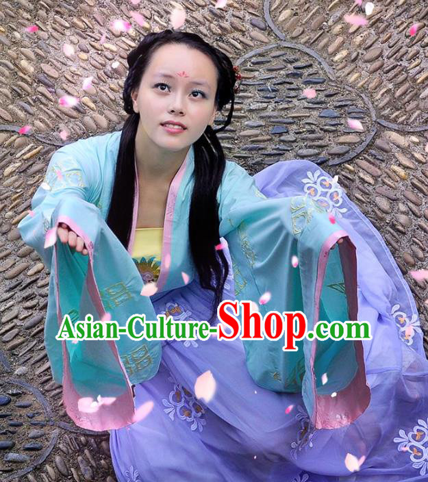Traditional Chinese Tang Dynasty Palace Lady Costume, Elegant Hanfu Chinese Imperial Princess Embroidered Clothing for Women