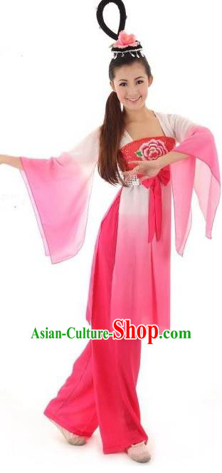 Traditional Ancient Chinese Tang Dynasty Palace Flying Dance Costume, Elegant Hanfu Clothing Chinese Princess Dunhuang Flying Apsaras Embroidered Clothing for Women