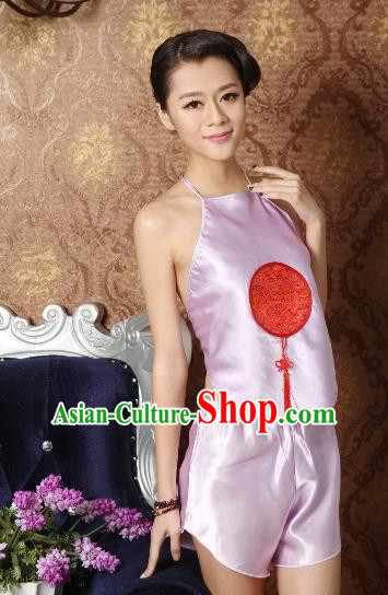Traditional Chinese Ming Dynasty Princess Pink Embroidered Bellyband, China Ancient Palace Lady Stomachers Embroidery Undergarment for Women