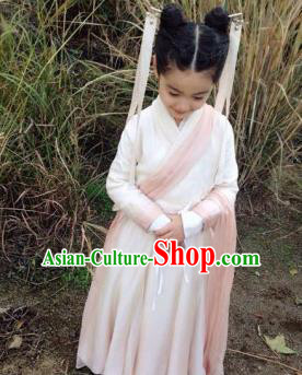 Traditional Asian Oriental Costumes China Costume Han Dynasty Hanfu Princess Fairy Dress for Kids