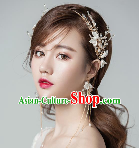 Top Grade Handmade Classical Hair Accessories Baroque Style Princess Crystal Hair Clasp Headwear for Women