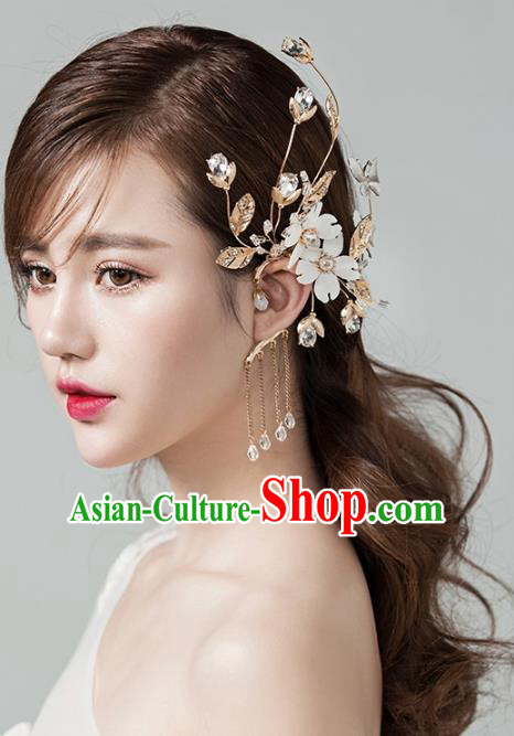 Top Grade Handmade Classical Hair Accessories Baroque Tassel Earrings, Princess Silk Flower Eardrop for Women