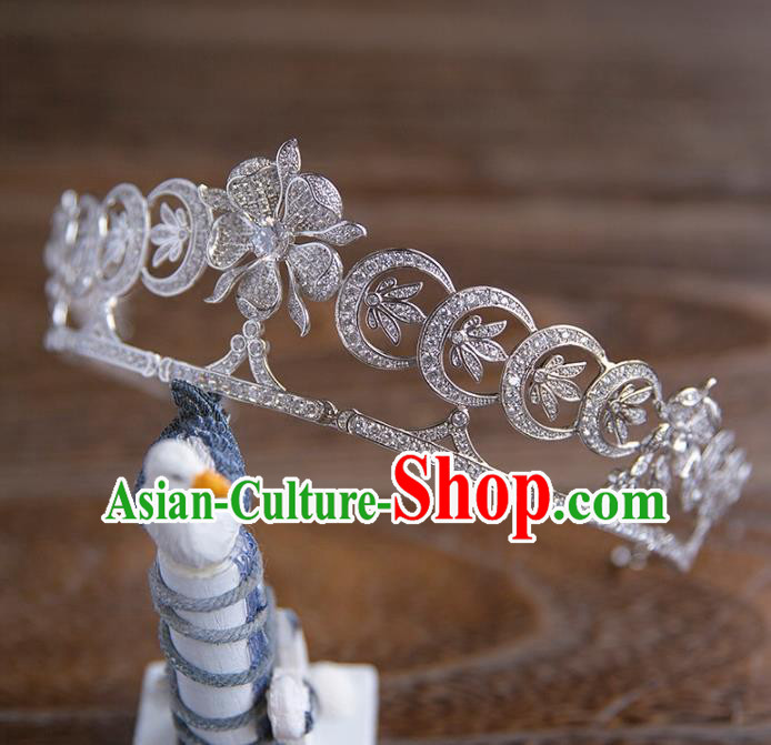 Top Grade Handmade Classical Hair Accessories, Baroque Style Princess Crystal Royal Crown Bride Headwear for Women