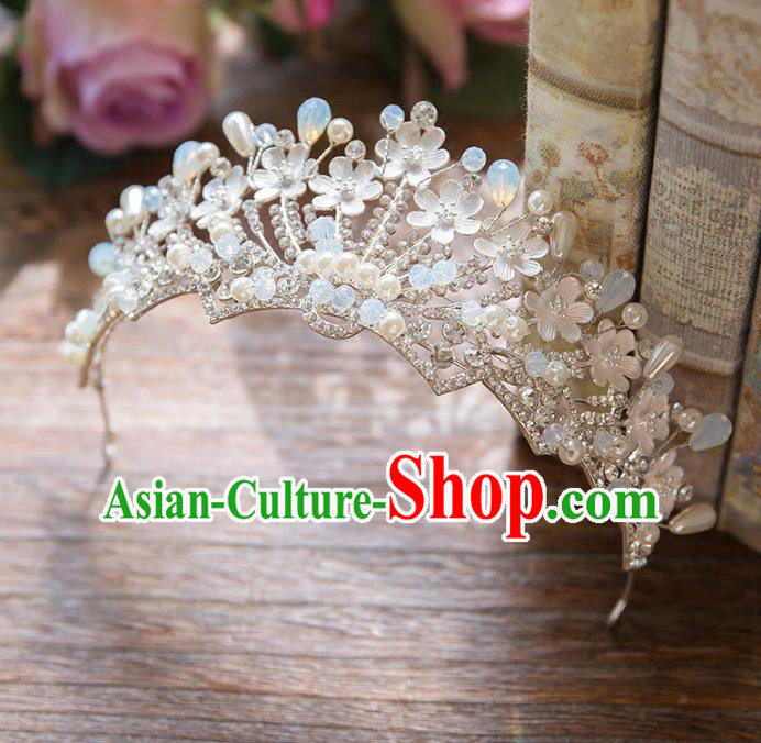 Top Grade Handmade Classical Hair Accessories Baroque Style Princess Crystal Pearls Royal Crown Bride Hair Clasp Headwear for Women