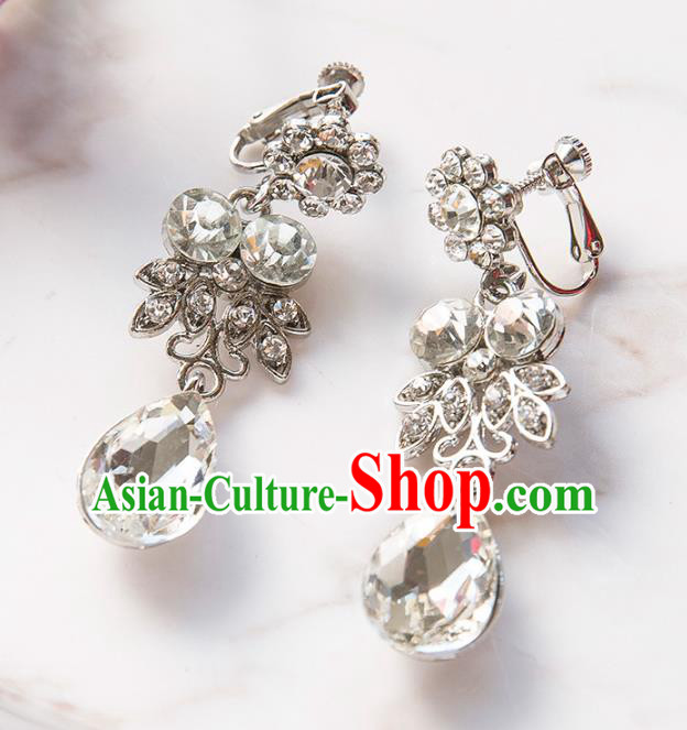 Top Grade Handmade Classical Jewelry Accessories Eardrop Baroque Style Princess Crystal Earrings Headwear for Women