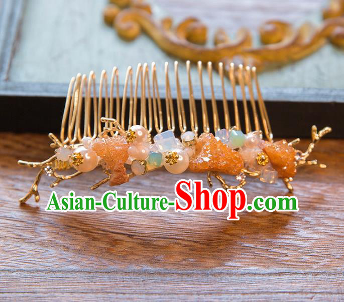 Top Grade Handmade Classical Hair Accessories Chinese Hair Comb, Baroque Style Princess Headwear for Women