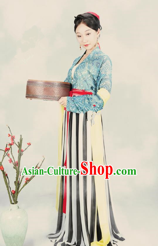 Traditional Ancient Chinese Tang Dynasty Imperial Consort Costume, Chinese Hanfu Young Lady Embroidered Dress for Women