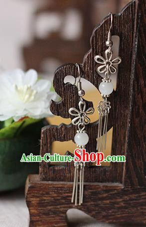 Chinese Handmade Classical Accessories Hanfu Butterfly Tassel Earrings, China Xiuhe Suit Wedding Eardrop for Women