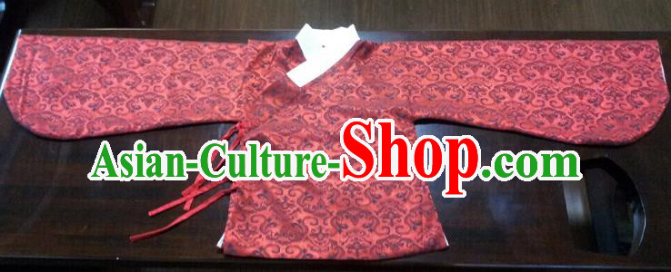 Traditional Oriental China Costume Palace Lady Red Blouse, Chinese Ming Dynasty Embroidered Upper Outer Garment Clothing for Women