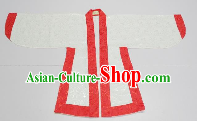 Traditional Chinese Han Dynasty Scholar Costumes Red Edge Blouse for Kids