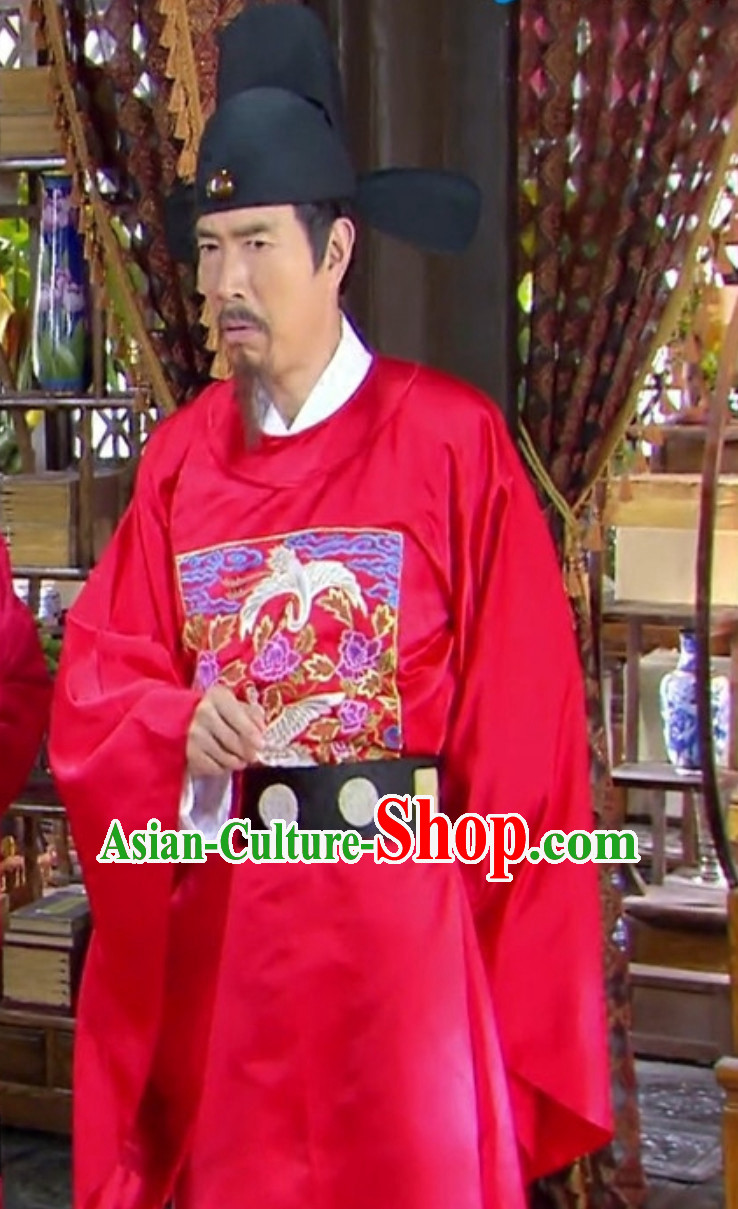 Ancient Chinese Song Dynasty Government Official Costumes Complete Set for Men