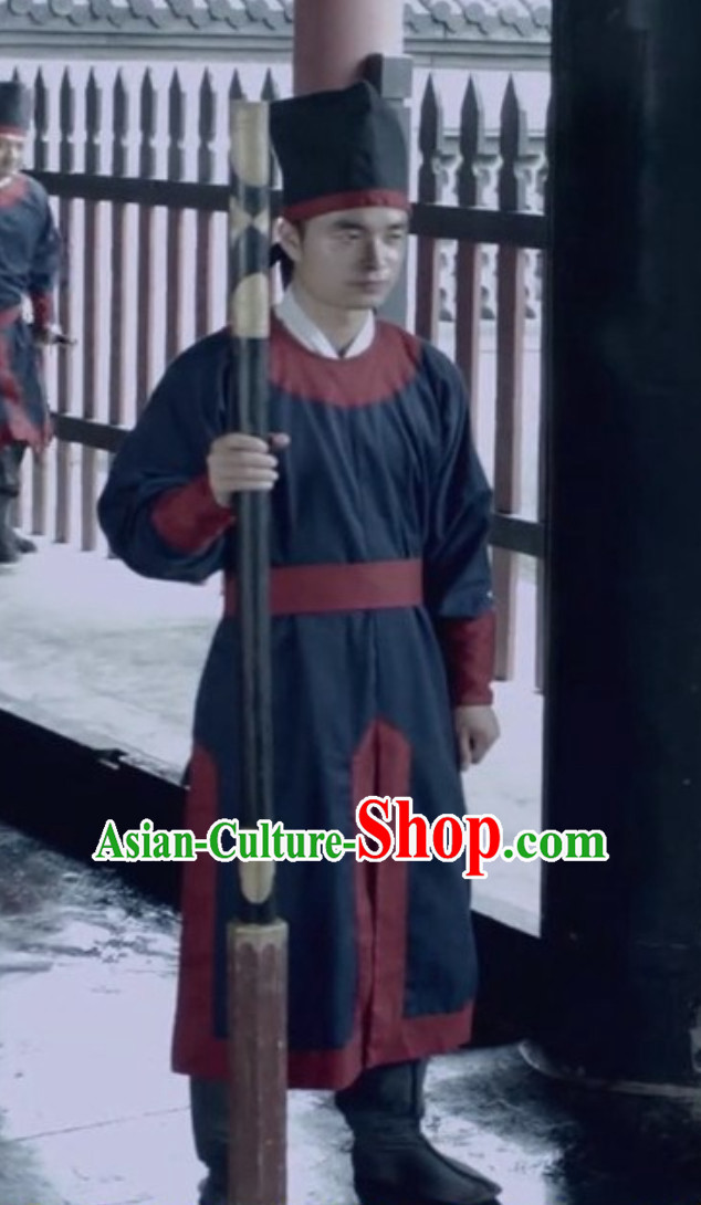 Ancient Chinese Ming Dynasty Policeman Complete Set for Men