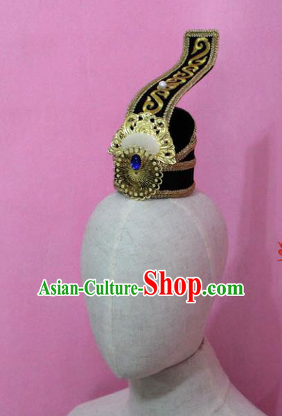 Traditional Handmade Chinese Hair Accessories Prince Headwear, China Han Dynasty Hairdo Crown Tuinga for Men