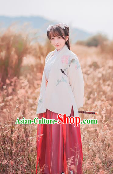 Traditional Chinese Ancient Palace Lady Costume, Asian China Tang Dynasty Princess Embroidered BeiZi Clothing for Women
