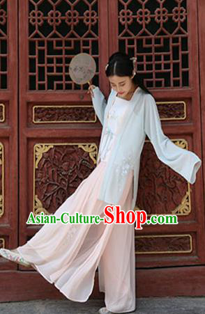 Traditional Chinese Ancient Young Lady Costume, Asian China Song Dynasty Princess Embroidered BeiZi and Skirt Clothing for Women