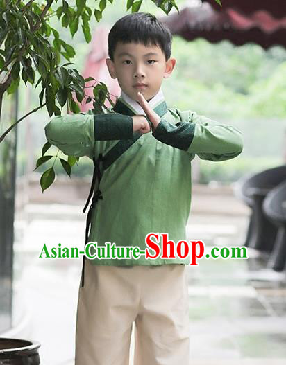 Traditional Chinese Ancient Children Hanfu Costume, Asian China Han Dynasty Swordsman Clothing for Kids
