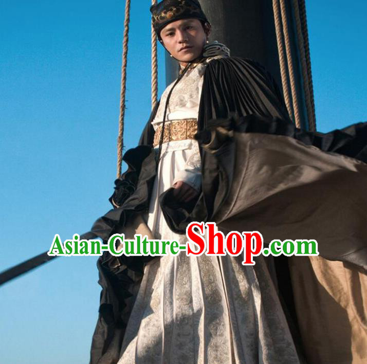 Traditional Ancient Chinese Swordsman Costume, Asian Chinese Ming Dynasty Knight-errant Clothing for Men