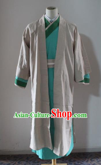 Traditional Ancient Chinese Swordsman Costume, Asian Chinese Ming Dynasty Knight-errant Robe Clothing for Men