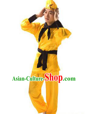 Traditional Chinese Peking Opera Handsome Monkey King Costume, China Ancient Beijing Opera Takefu Clothing for Men