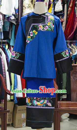 Traditional Chinese Miao Nationality Dancing Costume, Hmong Female Folk Dance Ethnic Embroidery Clothing for Women