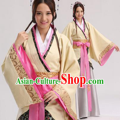 Traditional Chinese Ancient Palace Lady Costume, Asian China Han Dynasty Princess Embroidered Clothing for Women