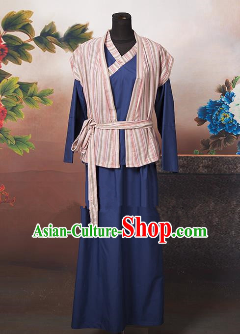 Asian China Ancient Ming Dynasty Swordswoman Costume, Traditional Chinese Hanfu Heroine Clothing for Women
