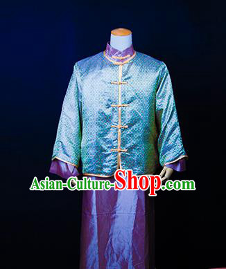 Traditional Ancient Chinese Republic of China Costume Long Robe, Asian Chinese Wedding Xiuhe Suit Clothing for Men