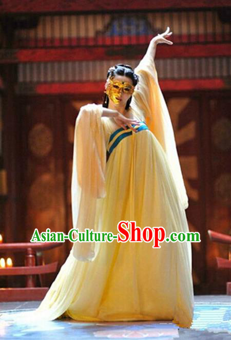 Traditional Ancient Chinese Tang Dynasty Consort Yang Dance Costume, Elegant Hanfu Clothing Chinese Palace Lady Dress Clothing for Women