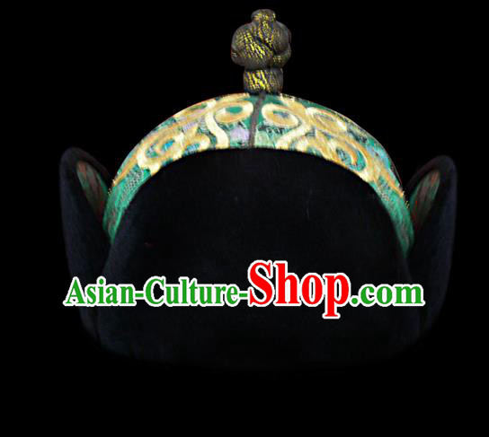 Traditional Chinese Mongol Nationality Hair Accessories Mongols Royal Highness Hat, Chinese Mongolian Minority Nationality Headwear for Men