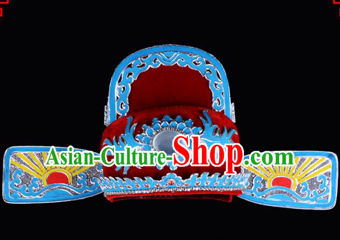 Traditional Beijing Opera Niche Hair Accessories Lang Scholar Hat, Ancient Chinese Peking Opera Young Men Headwear