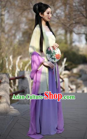 Traditional Ancient Chinese Nobility Lady Goddess Embroidered Costume Slip Skirt, Elegant Hanfu Chinese Tang Dynasty Princess Dress Clothing