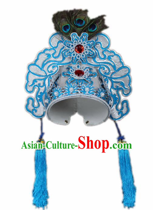 Traditional China Beijing Opera Scholar Hats, Chinese Peking Opera Niche Liang Shanbo Headwear