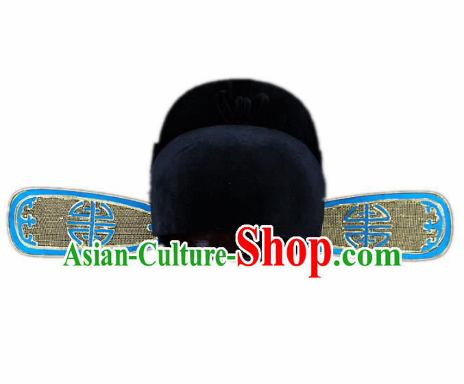 Traditional China Beijing Opera Scholar Hats, Chinese Peking Opera County Magistrate Headwear