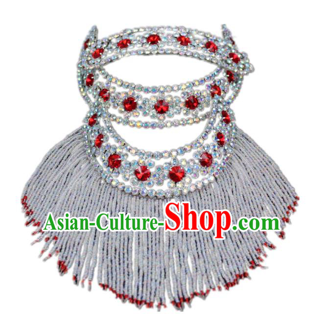 Traditional China Beijing Opera Actress Hair Accessories Head-Ornaments, Chinese Peking Opera Diva Crystal Headwear