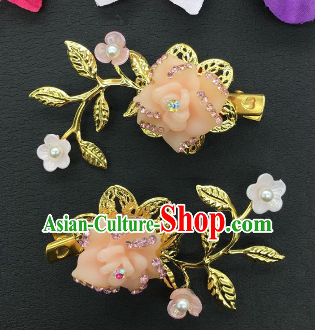 Traditional Handmade Chinese Ancient Classical Hair Accessories Shell Flowers Hair Claw for Women