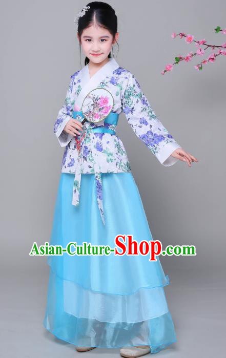 Traditional Chinese Ancient Princess Fairy Costume, China Han Dynasty Imperial Consort Clothing for Kids