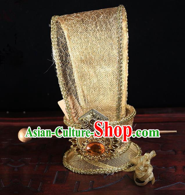 Traditional Handmade Chinese Classical Hair Accessories Han Dynasty Minister Hairdo Crown for Men