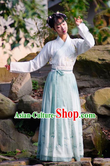 Traditional Chinese Ancient Nobility Lady Costume, China Ming Dynasty Princess Embroidered Clothing for Women