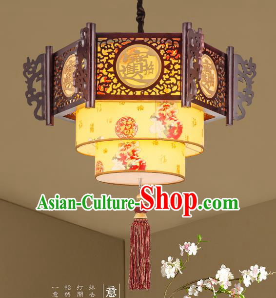 Traditional Chinese Handmade Wood Lantern Palace Lantern China Ceiling Palace Lamp