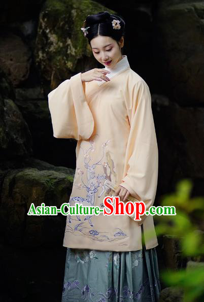 Traditional Chinese Ming Dynasty Nobility Lady Costume, China Ancient Palace Princess Embroidered Clothing for Women