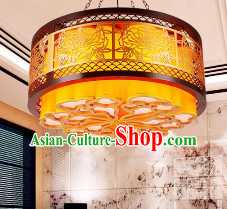 Traditional Chinese Handmade Lantern Classical Wood Carving Cloud Palace Lantern China Ceiling Palace Lamp